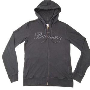 BILLABONG ~ Black Hoodie Hooded Sweater ~ Size L